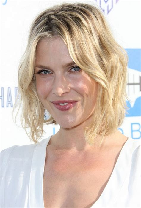 short tousled curly bob hairstyle 2014 ali larter short