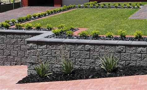 retaining wall block styles concrete block retaining walls adelaide design exles