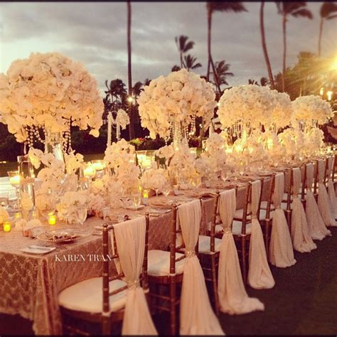 luxury arrangements   wedding table decoration