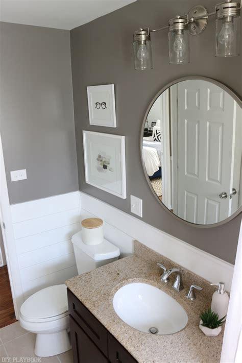 My In The Bathroom by Shiplap Bathroom Reveal 6 Diy Playbook