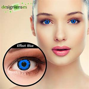 Blue colored contact lenses scary ice blue elf eye ...