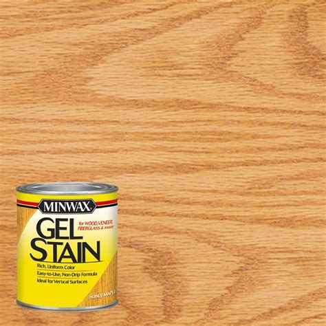 minwax 1 qt honey maple gel stain 4 66040 the home depot