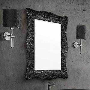 miroir salle de bain 98x70 cm alexandra noir bronze ou With miroir salle de bain noir