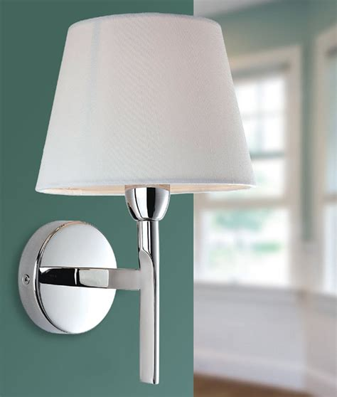 chrome arm wall light with choice of shade finish