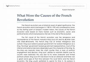 what were the causes of the french revolution essay