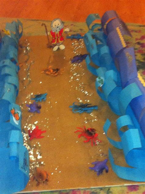 moses parting  red sea craft sunday school crafts