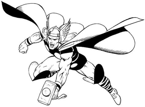 Kleurplaat Thor by Thor Coloring Pages To And Print For Free