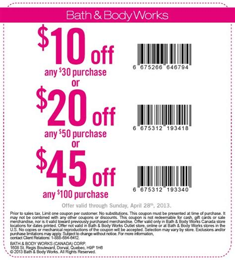 Bath & Body Works Canada: Up To $45 Off Your Purchase ...
