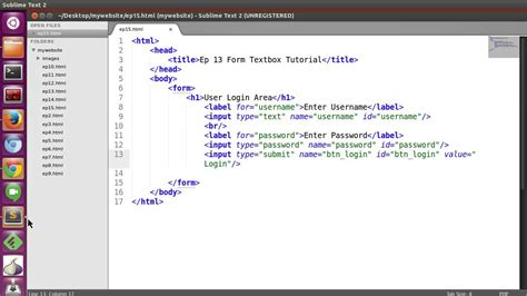 html bassic tutorial ep15 html form submit button