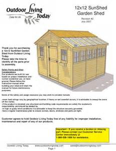 12x12 shed plan step by step