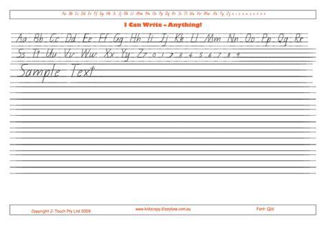 queensland cursive handwriting worksheets popflyboys
