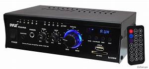 Pyle 240w Mini Compact Power Amp Ampifier Home Theater Receiver Aux
