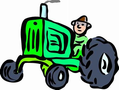 Tractor Deere Clip John Clipart Cartoon Tractors