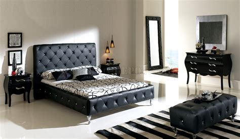 modern leather bedroom sets nelly bedroom by esf with black tufted leather headboard 16395   ddd0806999be720a2237703139d91ef3.image.1280x743