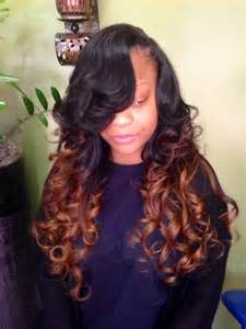 Side Part Weave with Ombre