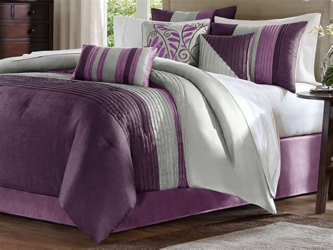 purple comforter set gray and purple bedding product choices homesfeed