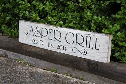Wood Custom Signs Outdoor Kitchen Painted Personalized