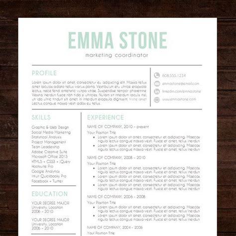 resume template professional creative resume instant