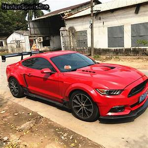 Mustang Modified V Style Carbon Fiber Rear Trunk Lip Spoiler Car Wing for Ford Mustang 2015 2016 ...