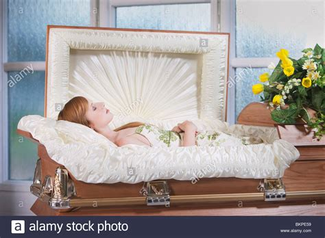 A Deceased Young Woman In A Coffin Stock Photo: 29382901 ...