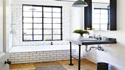 salle de bain noir et blanc carrelage leroy merlin