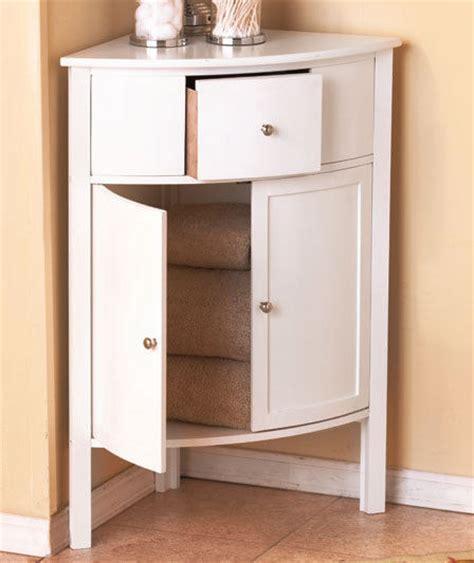 White Modern Corner Cabinet Storage Organizer Bathroom