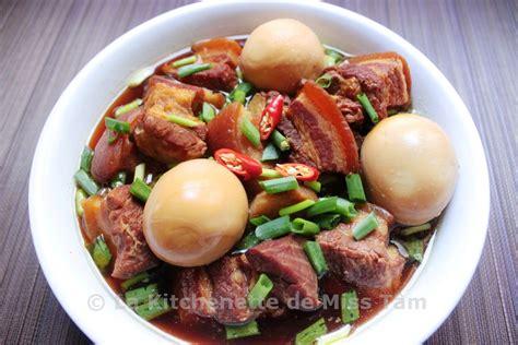 cuisine vietnamien porc au caramel vietnamien thịt kho trứng la