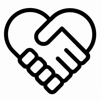 Icon Heart Handshake Icons Iphone Finger Clipart