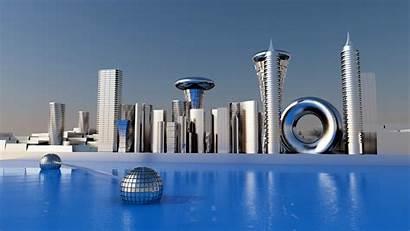Future Cityscape Building Resolution Bright Hires Coming