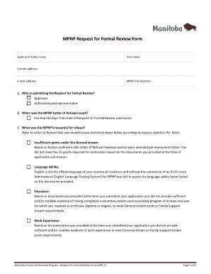 mpnp approval letter sample fill  printable