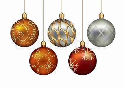 Christmas Ornaments Hanging Gold Vector Thread Illustration