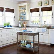 Get Inspired By This 2014 Kitchen Window Treatments Ideas From BHG I Treatment Ideas For Kitchen And Bathroom Decorating Roman Shades Kitchen Shades Ideas All You Need Is Hot Glue To Make A Diy No Sew Faux Roman Shade