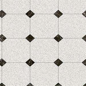 Trafficmaster black and white decorative paver 12 ft wide for Black and white linoleum sheet flooring