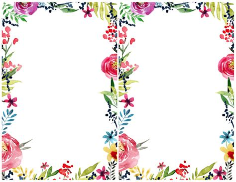 Floral Border Clip Free Printable Borders Clipart Collection