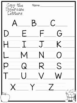 kindergarten worksheets alphabet  printable