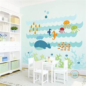 kids wall decal under the sea extra large nursery artwork With under the sea wall decals