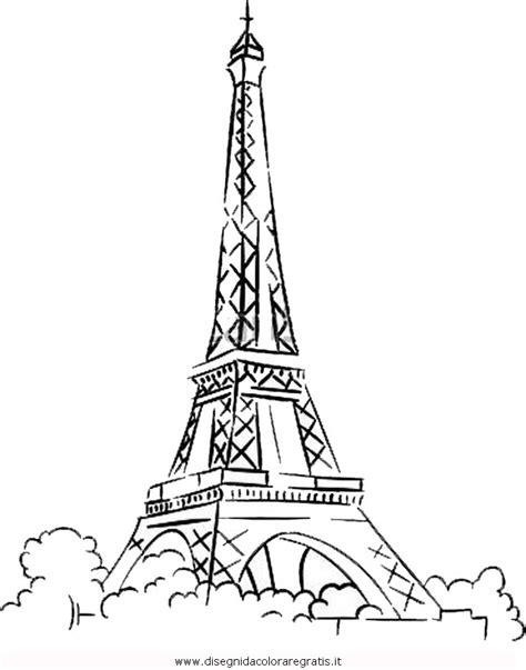 Disegno parigi_5 misti da colorare