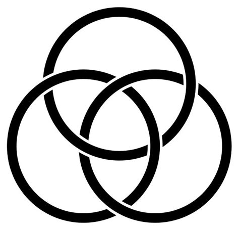 the borromean rings represent the there are many
