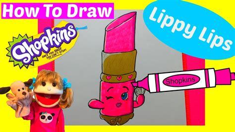 draw shopkins lippy lips step  step easy draw
