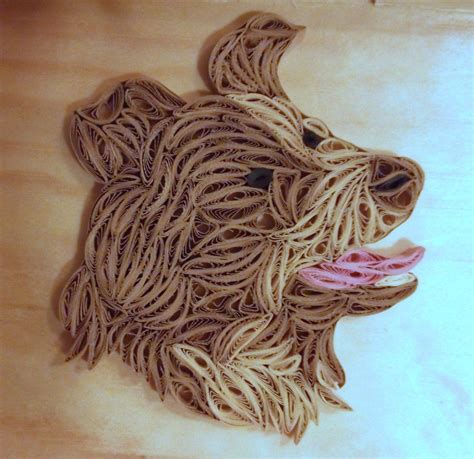 quilled dog  pinter ferencne fb quilling images