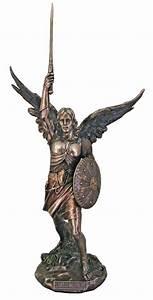 Archangel St Saint Michael w Shield Sword Color Bronze ...