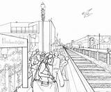 Perspective Point Drawing Train Sketch Deviantart Drawings Scene Area Bay Waiting Dessin Croquis Sketches Coloring Vanishing Abalone Seasnail Sketching Coloriage sketch template