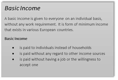 ess basic income opinion essay