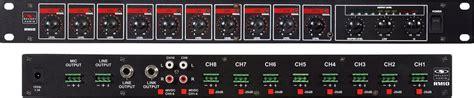 rack mount audio mixer galaxy audio rm 10 rack mount 10 channel mixer 1 ru