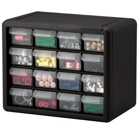Akro Mils Plastic Storage Cabinets by Akro Mils 10116 16 Drawer Plastic Parts Storage Hardware