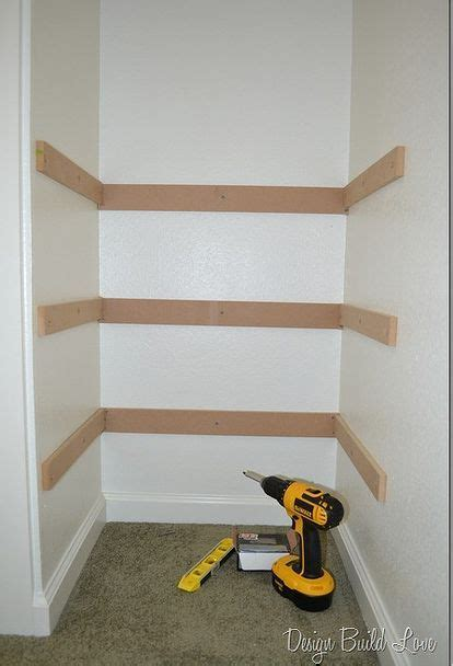 How To Build A Shelf In A Closet by 7 Simple Steps To Create Cheap Easy Built In Closet