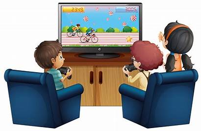 Playing Three Vector Sitting Clipart Graphics Sofa