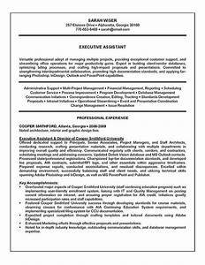 Executive assistant resume example sample for Executive assistant resume template