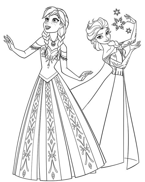 printable coloring pages elsa  anna