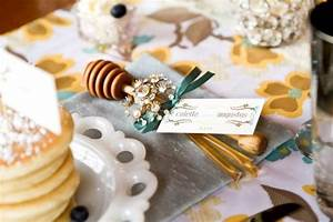 honey dipper and honey stick favors escort menu With honey dipper wedding favors